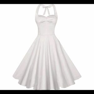 White Swing Flare Dress